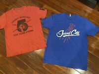 (2) CrossFit Affiliate Tshirts Mens Large (Jewel City Glendale & Resistance)