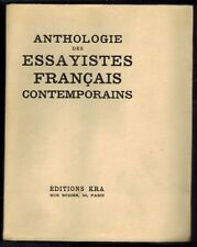 1929-/Anthologie des essayistes français contemporains-Poesie//EDIT.KRA
