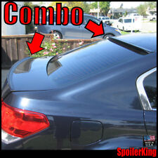 COMBO Spoilers (Fits: Subaru Legacy 2010-14) Rear Roof Wing & Trunk Lip