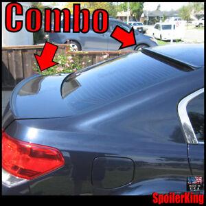 COMBO Spoilers (Fits: Subaru Legacy 2010-14) Rear Roof Wing & Trunk Lip