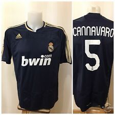 Real Madrid #5 Cannavaro 2007/2008 Away Sz L Adidas shirt jersey maillot soccer