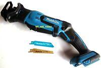 New Makita 18V XRJ01 Compact Cordless Battery Reciprocating Saw, Blades 18 Volt