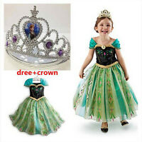 Kids Girls Dresses Frozen Elsa and Anna costume Princess party Fancy dress