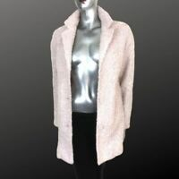 Blush Pink Jacket Coat Wool Blend Textured Chunky by Divided  8 10
