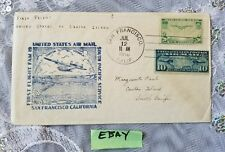 San Francisco California United States Air Mail South Pacific Service Flight