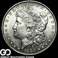 1880-O Morgan Silver Dollar Silver Coin,Very Choice AU++/Unc Better Date