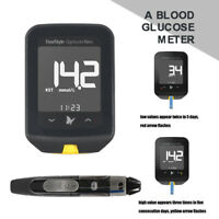 Blood Glucose & Blood Ketone Testing Meter Monitor Built-in Lithium Battery