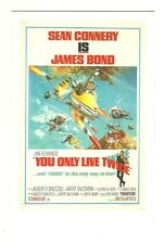 James Bond postcard - 'You Only live Twice' - U.S. poster (1967)