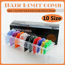 10pcs Strong Magnet Premium Hair Clipper Cutting Guide Comb Guards For WAHL