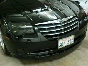 BlingLights Smoked Head Light Overlays Lamp Film Covers for Chrysler Crossfire