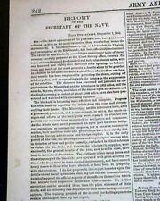 Abraham Lincoln Proclamation & Chickamauga Civil War 1863 Military Newspaper