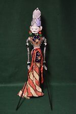 Vintage Asian Oriental Folklore Hand Painted Carved Wooden Hand Rod Puppet 24""