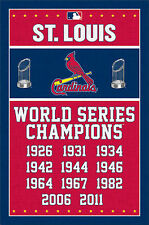 St. Louis Cardinals 11-TIME WORLD SERIES CHAMPIONS Commemorative MLB Wall POSTER