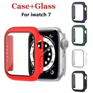 For Apple Watch Series 7 41mm 45mm Case Full Protective Cover + Screen Protector