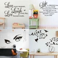 Art Quote Wall Decal Stickers Vinyl Home Room Decor Bedroom Removable Mural DIY