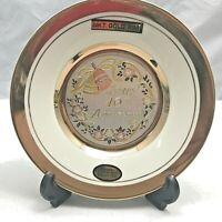 "Vintage Dynasty Gallery ""Art of Chokin"" 40th Anniversary plate, 24 K gold trim"