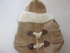 Tan Sherpa Hoodie TOGGLE Jacket Dog XXS XS S Bond & Co new pet coat wool-like