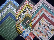 12x12 Scrapbook Paper Studio Boys Teenager Teen Comics Video Games Sports 40 Lot