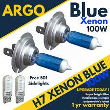 H7 100w 8500k Xenon Faro efecto Cool Azul Hielo Lámparas Bombillas LED 501 12v