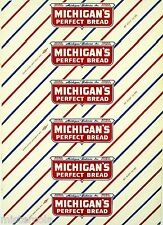 Vintage bread wrapper MICHIGANS PERFECT BREAD Grand Rapids Mich unused n-mint