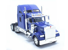 Welly 1:32 Kenworth W900 Semi Tractor Trailer Truck Diecast Model Violet New