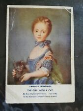 Godfrey Phillips postcards : The Girl With a Cat