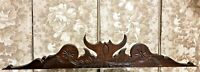 Primitive folk art flower carving pediment Antique french architectural salvage
