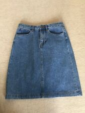 A.P.C. , Blue Denim A-line Skirt, 34 To Fit XS, NWOT, $200