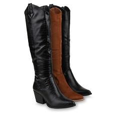 Damen Stiefel Cowboystiefel Gefütterte Western Cowboy Boots 832621 Schuhe