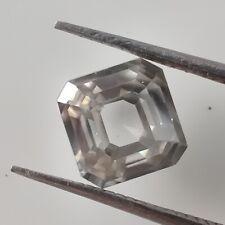 Cut Loose Moissanite Diamond 4 Ring/Pendant 3.46Ct 8.34x8.20 Mm Vs1 Gray Asscher