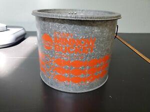 Vintage Frabill Minnow Bucket Galvanized 2 Pc, Nice!