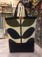 Orla Kiely Shopping Leatherbag -Multi Stem Tote Bag , Handmade