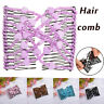 Bead Stretchy Women Hair Combs Double Magic Slide Metal Comb Clip Hairpins