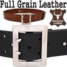 Men's Military Style Belt - Full Grain Genuine Cowhide - Waistband Waist Strap