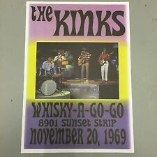 THE KINKS - CONCERT POSTER WHISKY A GO GO 20th NOVEMBER 1969  (A3 SIZE)