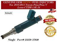 10-15 Toyota Prius//Prius V Lexus CT200 1.8L I4|Reman 4x OEM Denso Fuel injectors