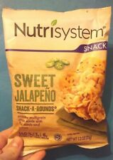 NEW, SHIPS FREE! Nutrisystem Sweet Jalapeno Snack-A-Rounds Diet Chips LOT OF 14