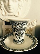 VERSACE CUP & SAUCER MARQUETERIE SET Coffee tes New RETAIL $300 Retired Sale