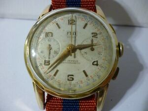 Swiss ITA men's Chronograph Gold Plated - 1950s Landeron 51 Working Condition!