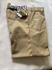 Bnwt Galaxy Boys' School Uniform Tan Color / Double Knee Pleated Pants / Size.4