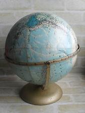 ORIGINAL VINTAGE RAND McNALLY WORLD PORTRAIT GLOBE - MADE IN USA