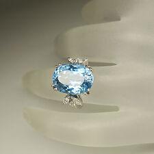 Edler Ring mit 0,28ct Diamant und einem 8,40ct Aquamarin in 750/18K Weißgold
