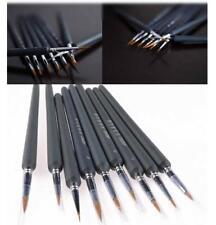 9 Stk. Künstlerpinsel Malpinsel Pinsel Bürste Rundpinsel für Aquarell Ölfarbe