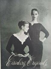 1956 women's Eisenberg dress jewelry vintage fashion original ad