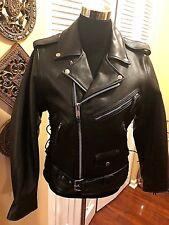 Vanguard Leather of America Black Women's Leather Moto Jacket - Size 38