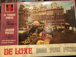 Vintage 60's/70's 2000 Piece Jigsaw of Belgium Market by Tower Press