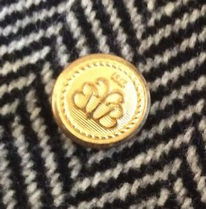 Brooks Brothers 1818 Waterbury Blazer Sleeve Buttons Gold Tone