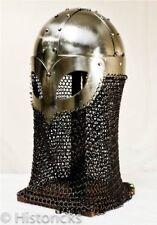 Viking Gjermundbu Chainmail Helmet  re-enactment  larp / role-play / fancy-dress