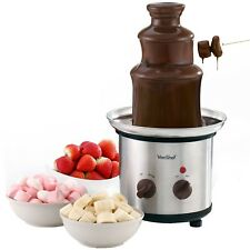 VonShef Chocolate Fountain Fondue Melt 3 Tier Stainless Steel Dipping Electric