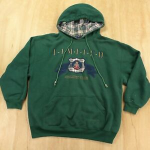 vtg The Limited TOO hoodie sweatshirt size 16 kids green embroidered college
